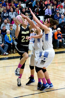 Corning Varsity Girls Basketball vs Horseheads at Elmira 12-28-14